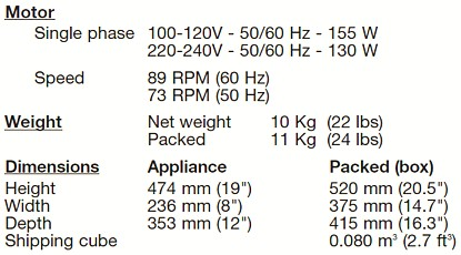 Ice Crusher Specification